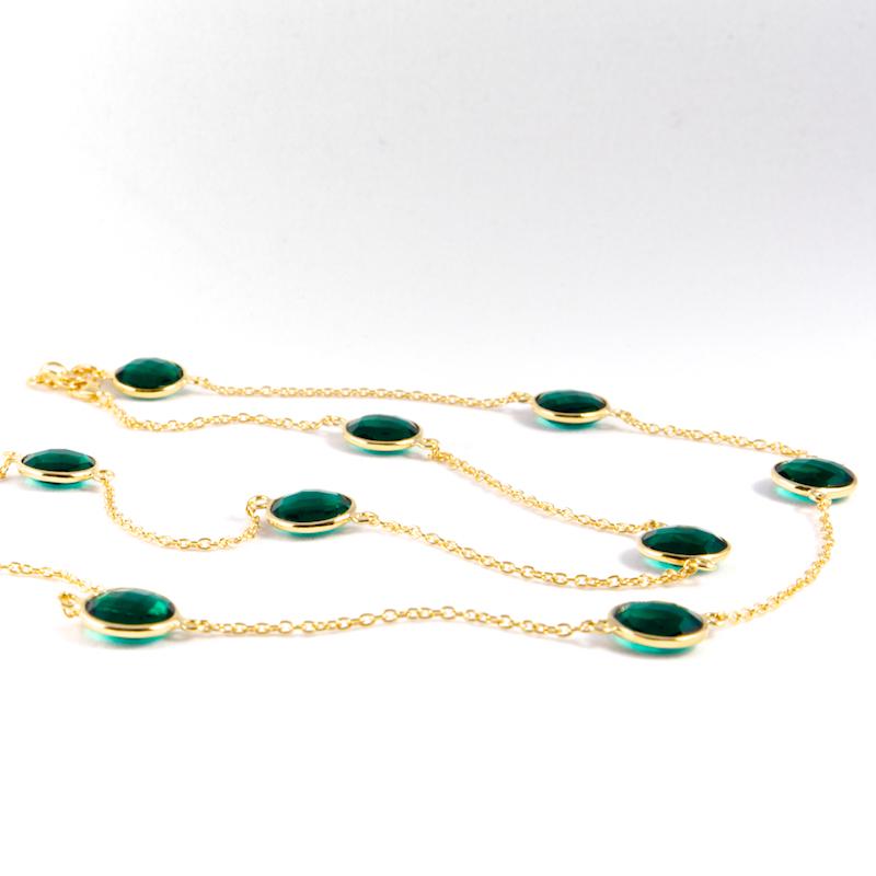 Halsband Carmen Golden Emerald