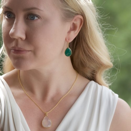 Örhängen Alicia Golden Green